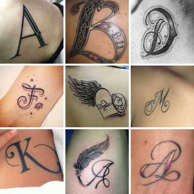 Letters Tattoos, Beautiful Photos, Ideas, Best Style, A lettera tattoo