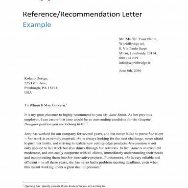 9+ Reference Letter from a Previous Employer Examples, PDF, Examples, esempio di lettera formale in inglese