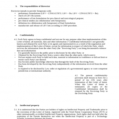 LETTER OF INTENT, Docsity, lettera di intenti letter of intent