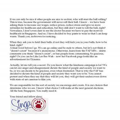 Singa Resigns:, Real Deal,, Heart Truths, lettera di licenziamento word