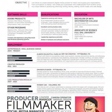 15 Videographer Resume Sample, what's a career, Resume design, Lettera presentazione cv pdf