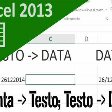 Tutorial excel,, Convertire testo in data e viceversa, Scrivere la data in inglese su una lettera